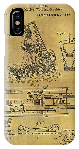 1879 Treadmill Patent  IPhone Case