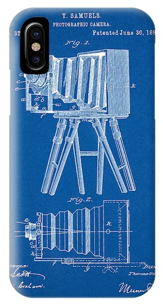 1885 Camera Us Patent Invention Drawing - Blueprint IPhone Case