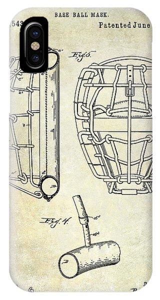 1887 Baseball Mask Patent IPhone Case