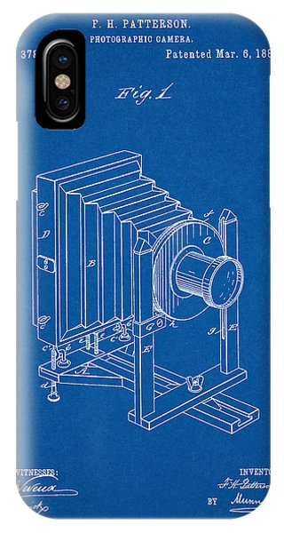 1888 Camera Us Patent Invention Drawing - Blueprint IPhone Case