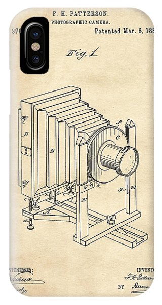 1888 Camera Us Patent Invention Drawing - Vintage Tan IPhone Case