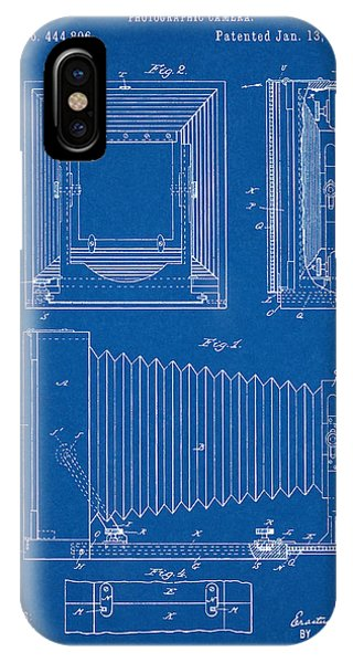 1891 Camera Us Patent Invention Drawing - Blueprint IPhone Case