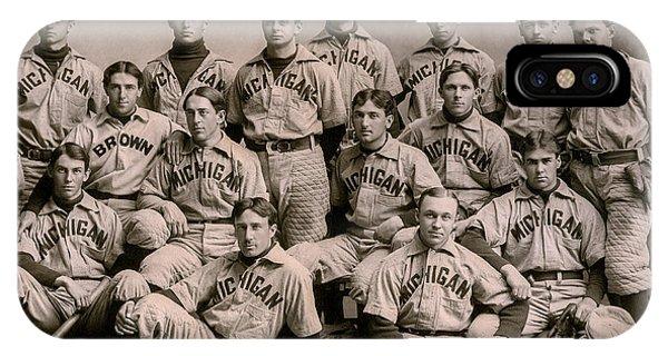 1896 Michigan Baseball Team IPhone Case