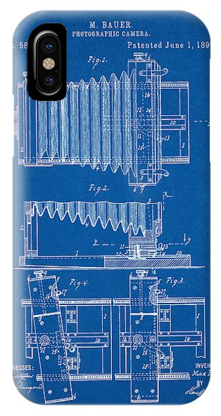 1897 Camera Us Patent Invention Drawing - Blueprint IPhone Case