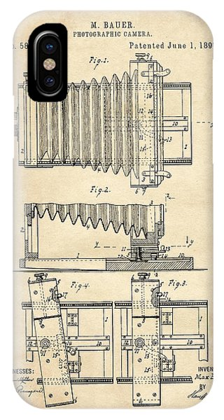 1897 Camera Us Patent Invention Drawing - Vintage Tan IPhone Case