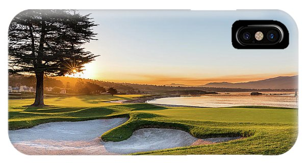 Monterey iPhone Case - 18th At Pebble Beach by Mike Centioli