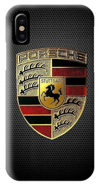 Vehicles iPhone Case - Porsche Logo by Max Dedrick