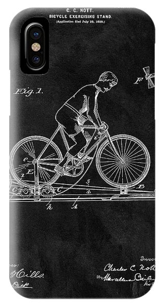 1900 Exercise Bike Patent IPhone Case