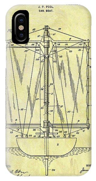 1901 Sailboat Patent IPhone Case