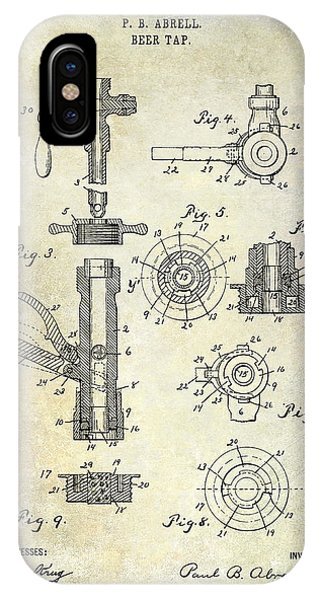 1903 Beer Tap Patent IPhone Case
