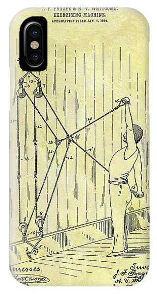 1904 Exercising Machine Patent IPhone Case