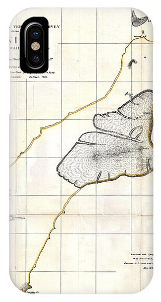 iPhone Case - 1904 Land Office Map Of Niihau Hawaii  by Paul Fearn