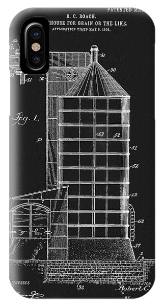 1905 Grain Silo Patent IPhone Case