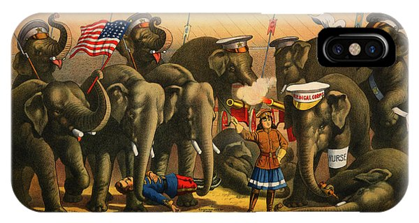 Barnum And Bailey iPhone Case - 1915 Barnum And Bailey Circus Elephant Trainer Miss Amy Dupont Poster by Movie Poster Prints