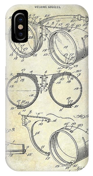 1917 Welders Goggles Patent  IPhone Case