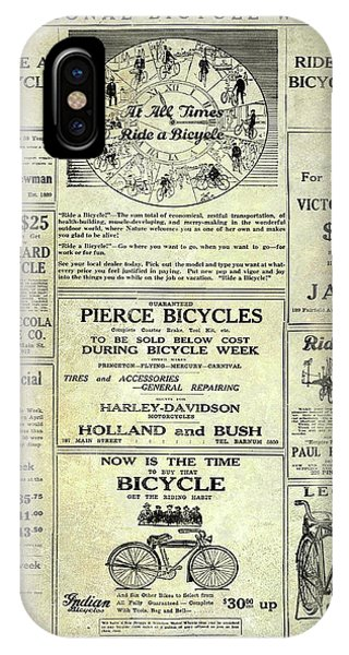 1922 National Bicycle Week Ad IPhone Case