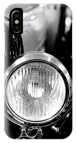 1925 Lincoln Town Car Headlight IPhone Case