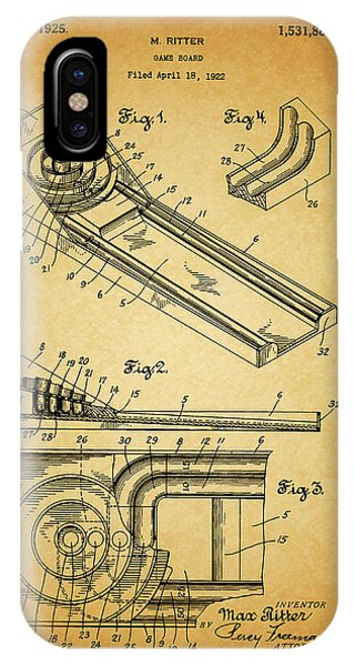 1925 Skee Ball Patent IPhone Case