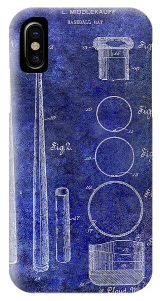 1926 Baseball Bat Patent Blue IPhone Case