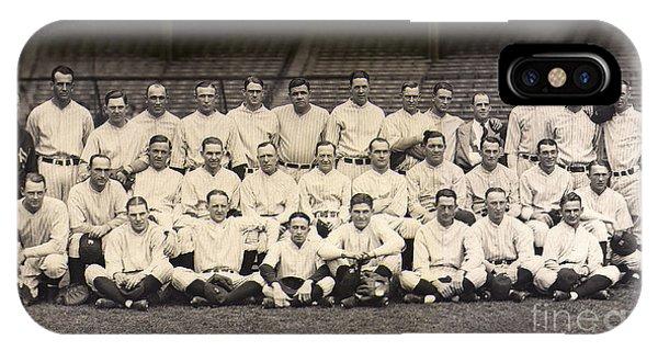 Babe Ruth iPhone Case - 1926 Yankees Team Photo by Jon Neidert