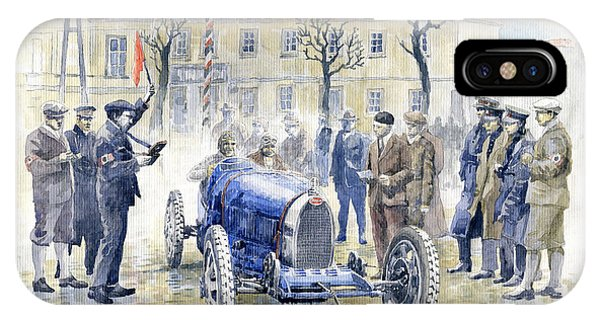 1926 Zbraslav Jiloviste Start Bugatti T35b Cenek Junek Elisabeth Junek  IPhone Case