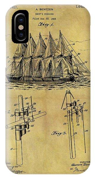 1927 Sail Ship Patent IPhone Case