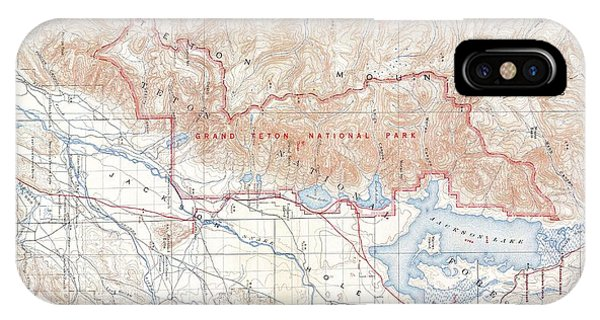 iPhone Case - 1929 Usgs Map Of Grand Teton National Park Wyoming  by Paul Fearn