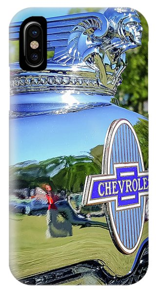 1930 Chevrolet Ad Hood Ornament IPhone Case