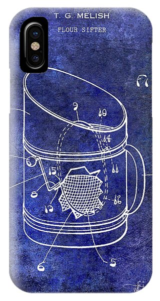 1930 Flour Sifter Patent  Blue IPhone Case