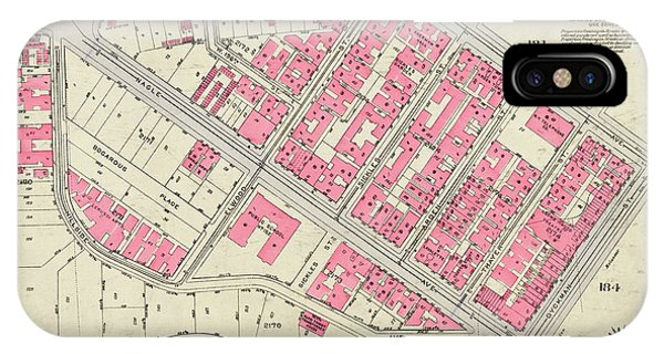 1930 Inwood Map  IPhone Case