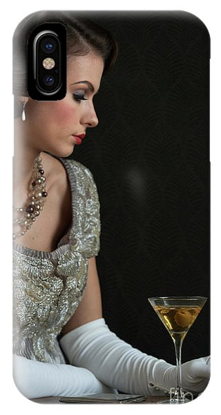 1930s Woman With A Cocktail Glass IPhone Case