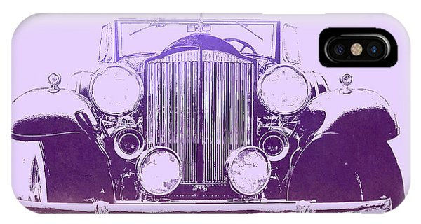 1932 Packard Pop Art Violet Gradient IPhone Case