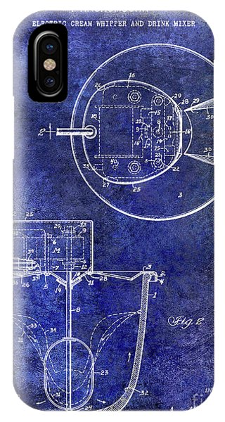 1933 Electric Cream Whipper Patent Blue IPhone Case