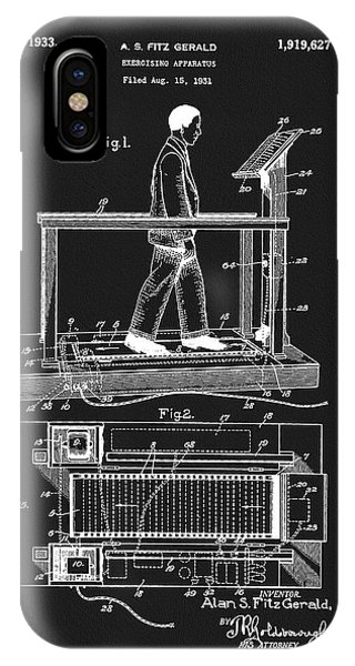 1933 Treadmill Patent IPhone Case