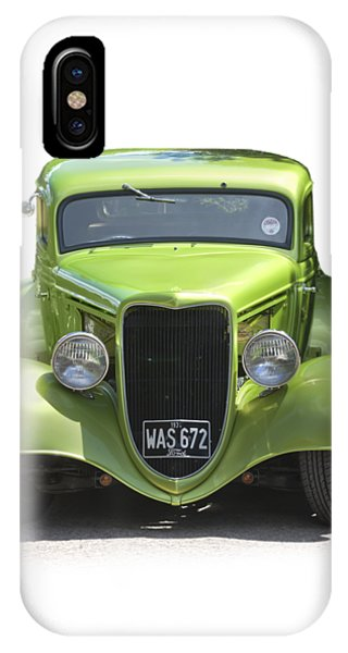 1934 Ford Street Hot Rod On A Transparent Background IPhone Case
