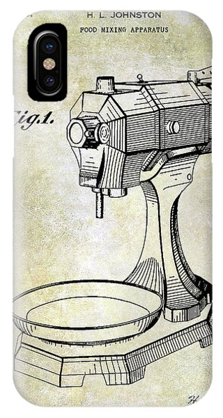 1935 Food Mixing Apparatus Patent IPhone Case