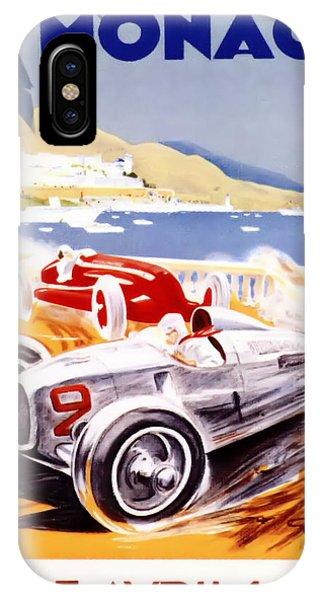 Old iPhone Case - 1936 F1 Monaco Grand Prix  by Georgia Fowler