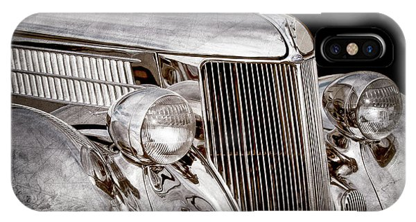 Stainless Steel iPhone Case - 1936 Ford - Stainless Steel Body -0371ac by Jill Reger