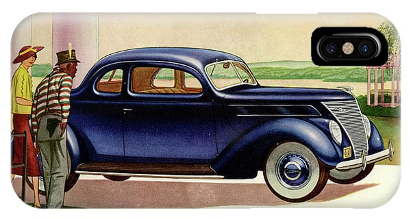1937 Ford Car Ad IPhone Case
