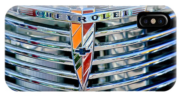 Coupe iPhone Case - 1939 Chevrolet Coupe Grille Emblem by Jill Reger