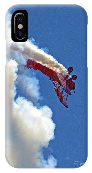 1940 Boeing Stearman Biplane Stunt 2 IPhone Case