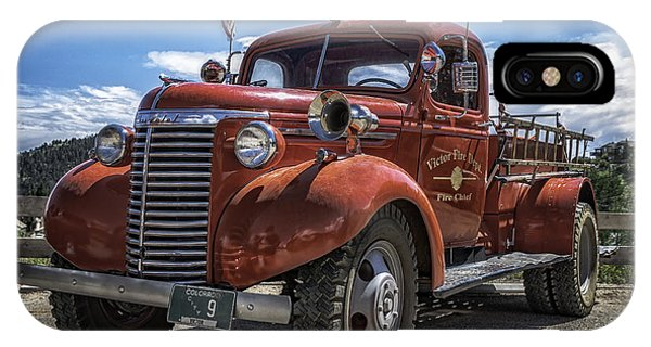 IPhone Case featuring the photograph 1940 Chevrolet Fire Truck  by Bitter Buffalo Photography