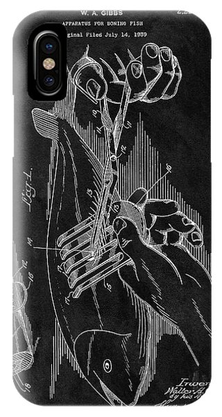 Bone iPhone Case - 1940 Fishing Gear Patent by Dan Sproul