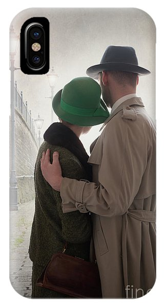 1940s Couple At Dusk  IPhone Case