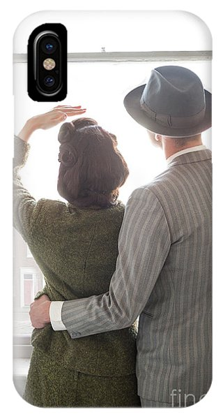 1940s Couple At The Window IPhone Case