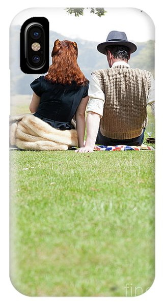 1940s Couple Sitting In The Sunshine IPhone Case