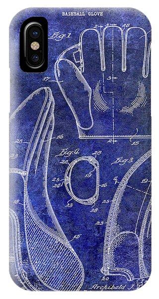 1941 Baseball Glove Patent Blue IPhone Case
