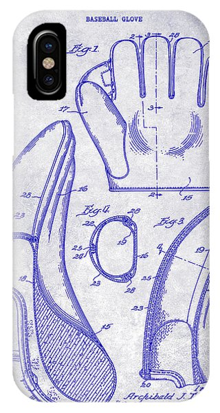 1941 Baseball Glove Patent Blueprint IPhone Case