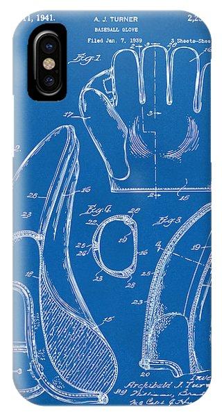 1941 Baseball Glove Patent - Blueprint IPhone Case