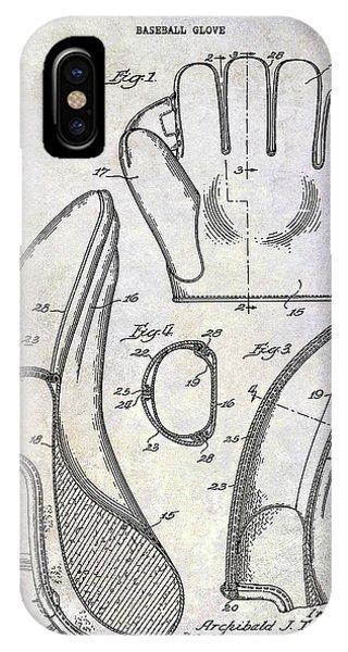 1941 Baseball Glove Patent IPhone Case